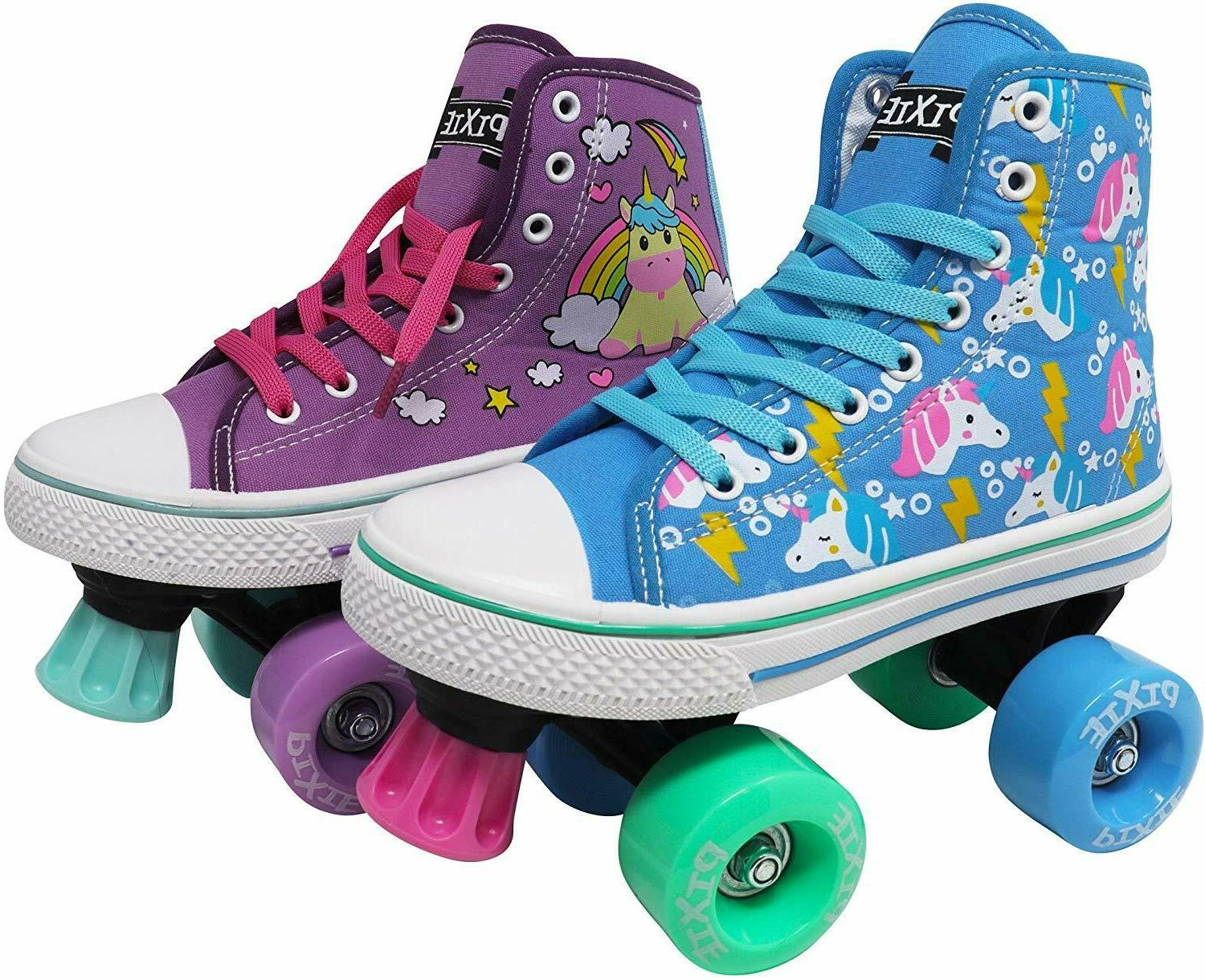 pixie unicorn kids roller skates girls quad