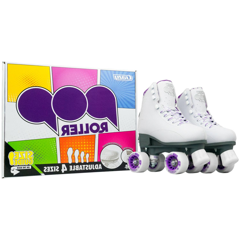 Pop Roller Skates Kids Skates   White