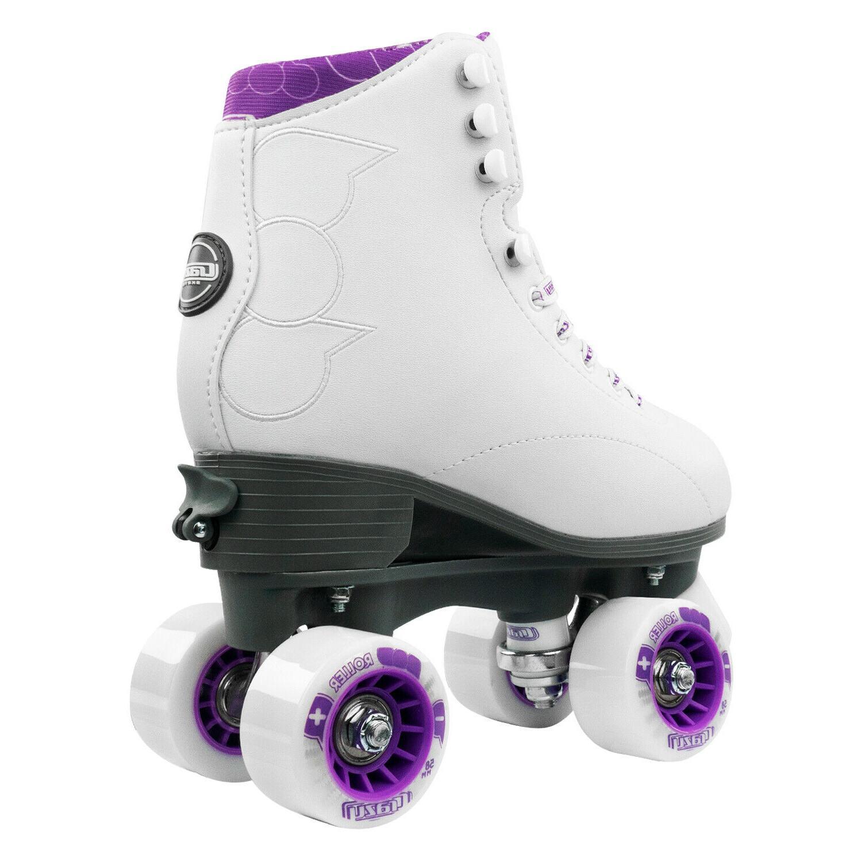Pop Adjustable Skates for Kids by   White