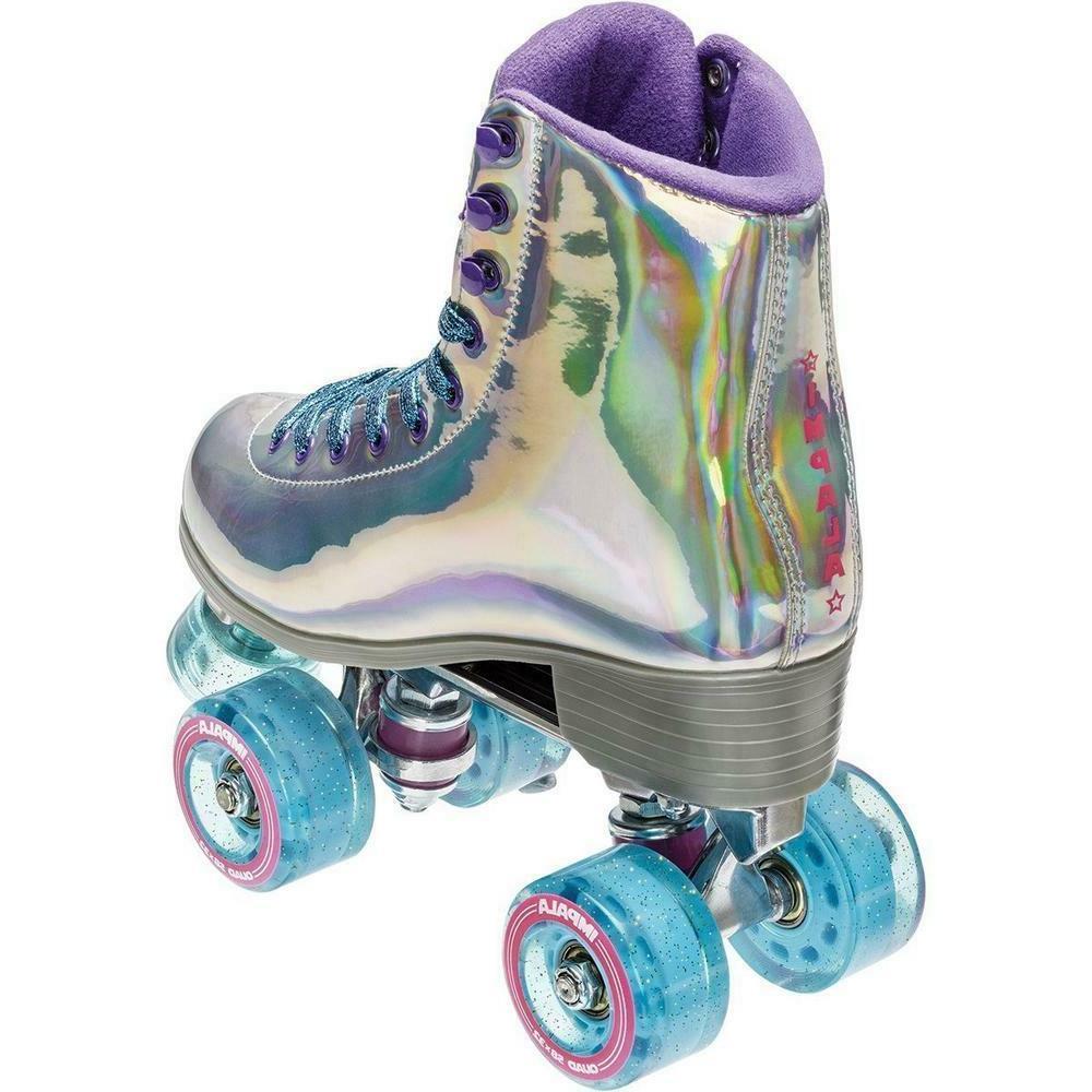 Impala Quad Outdoor Indoor Vegan Roller Skates - New Hologra
