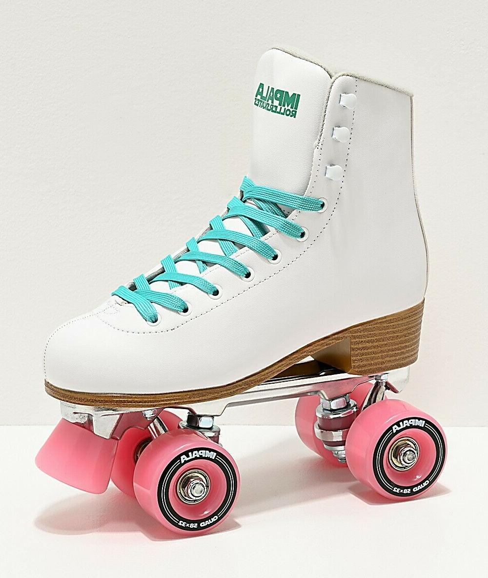 quad roller skates vegan womens white size