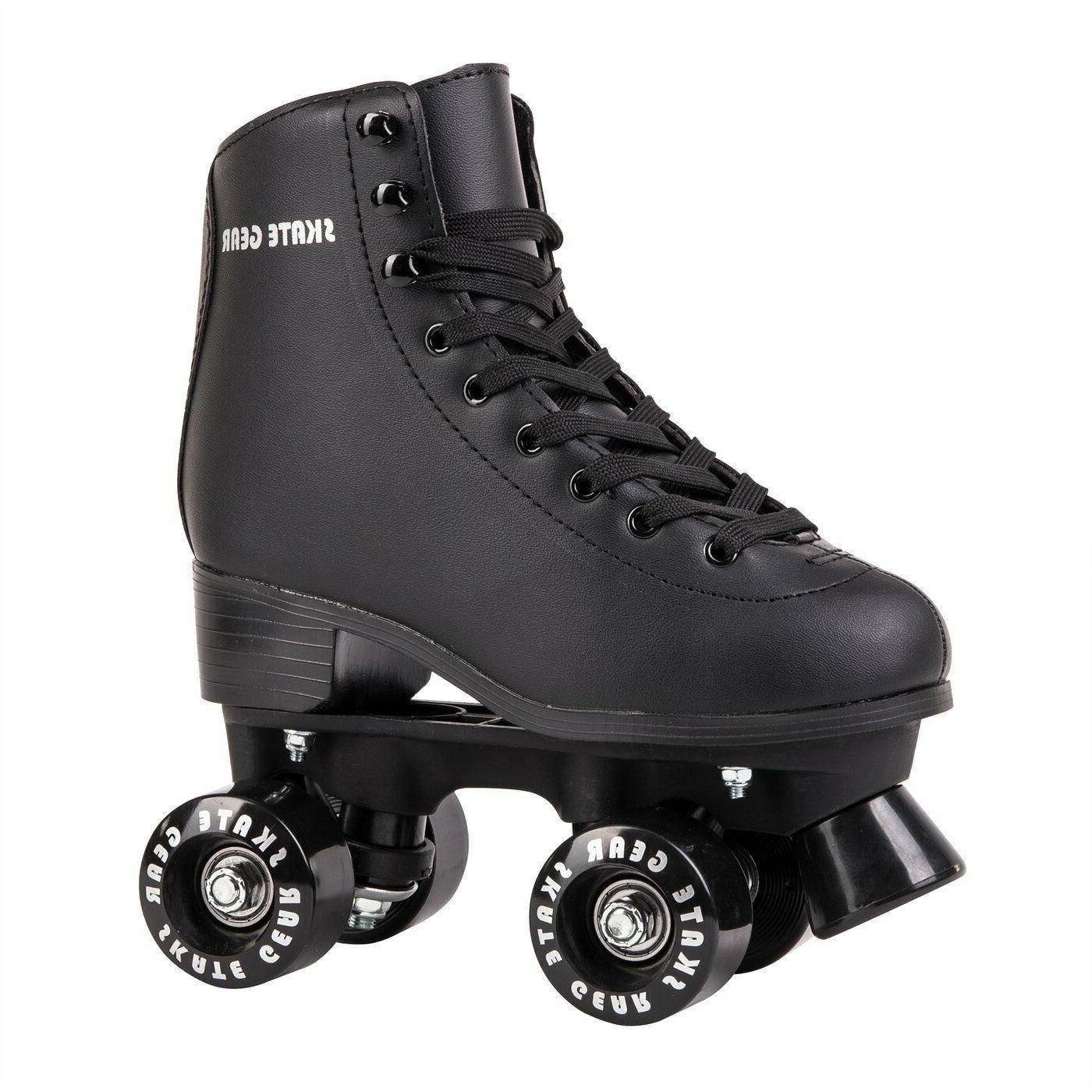 quad roller skates unisex black