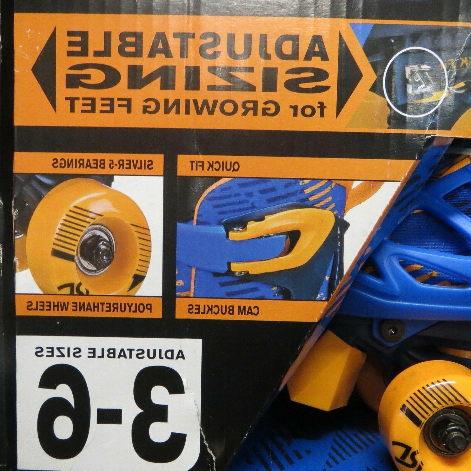 Roller Derby Skates adjustable size Blue/Orange ~NEW~