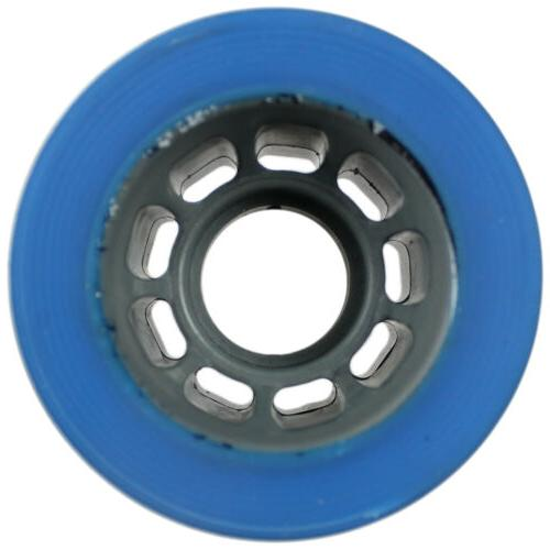 Quad Wheels Roller Skate 59mm x Blue Bearings