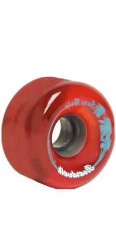 Red Suregrip Boardwalk Roller Skate Outdoor Soft Wheels 78a