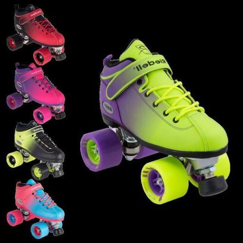 riedell quad roller skates dart ombre fade
