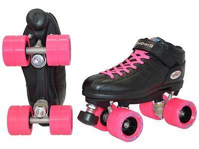Riedell R3 Pink Quad Roller Speed Demon Wheels