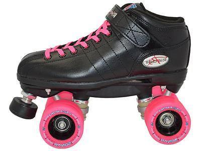 Riedell R3 Pink Quad Roller Derby Speed Demon Wheels