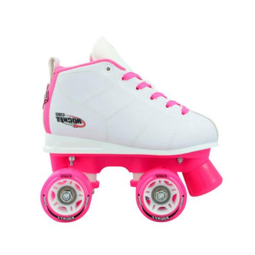 Crazy ROCKET Girls Kids Roller Quad Size