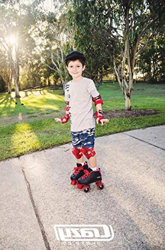 Crazy Skates Rocket Skates Girls Great Beginner Kids Skates Motion Black and Red Patines