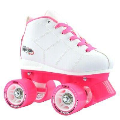 rocket roller skates for girls kids quad