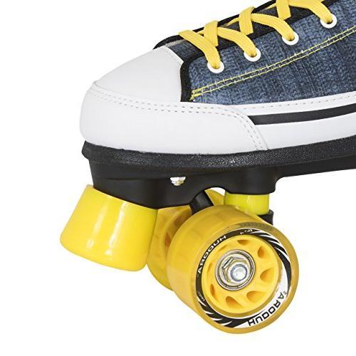 HUDORA Blue Denim Disco Skates–Size 8to