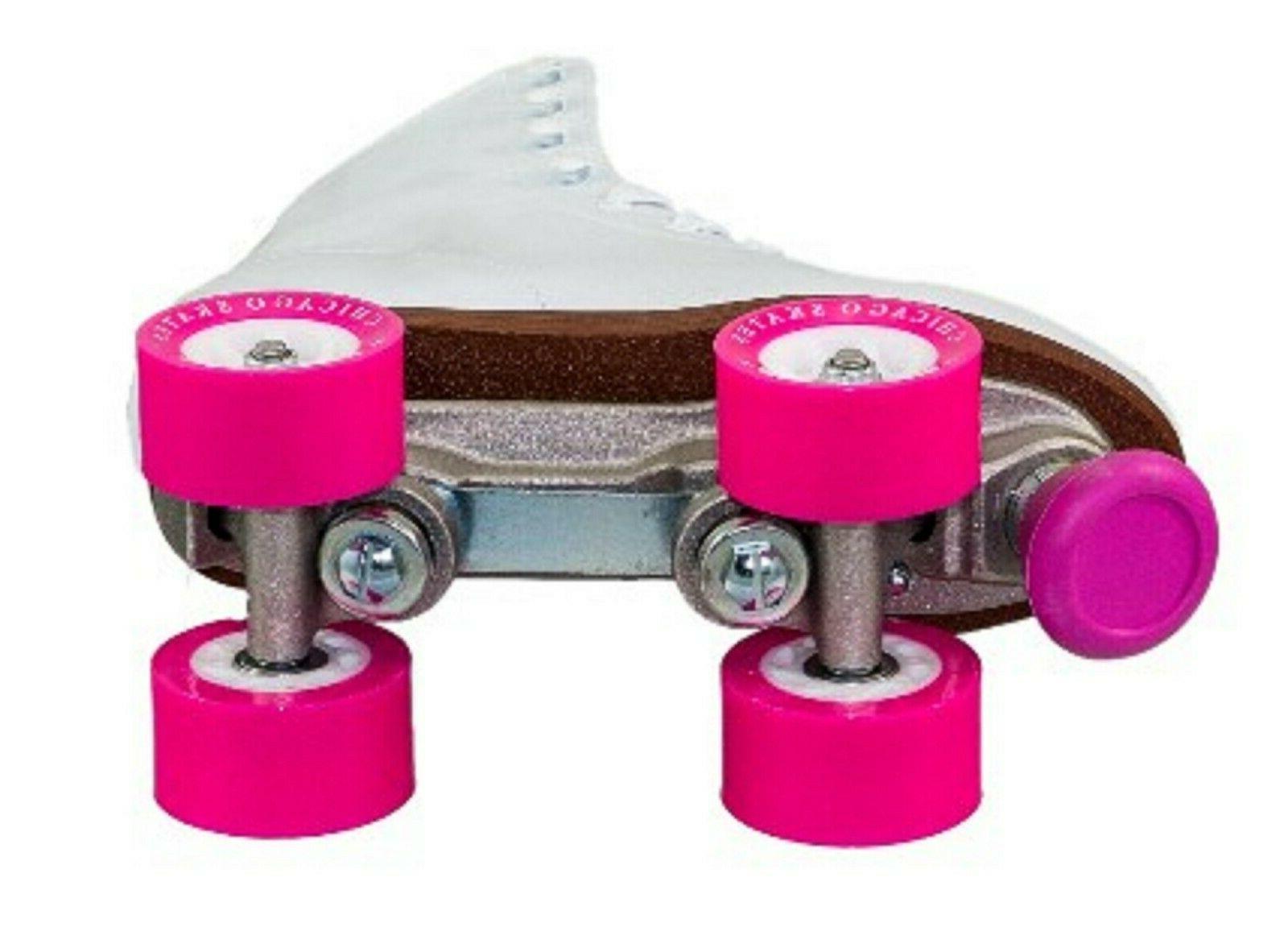 Roller Skates White Classic Rink Chicago