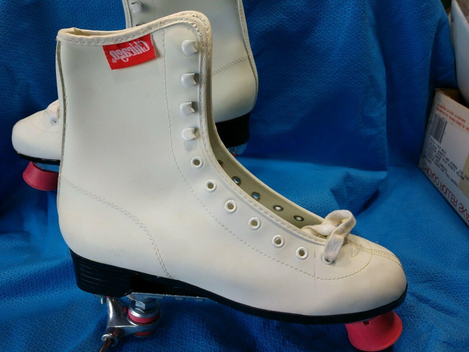 Chicago Roller Skates 8 Tigerloin Pink White Ladies no