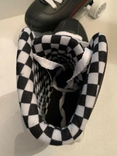 Roller Derby 600 Black/white Sz New Box