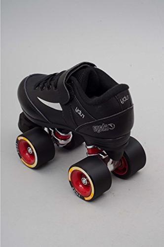 Chaya Ruby Hard Black Quad Derby Roller