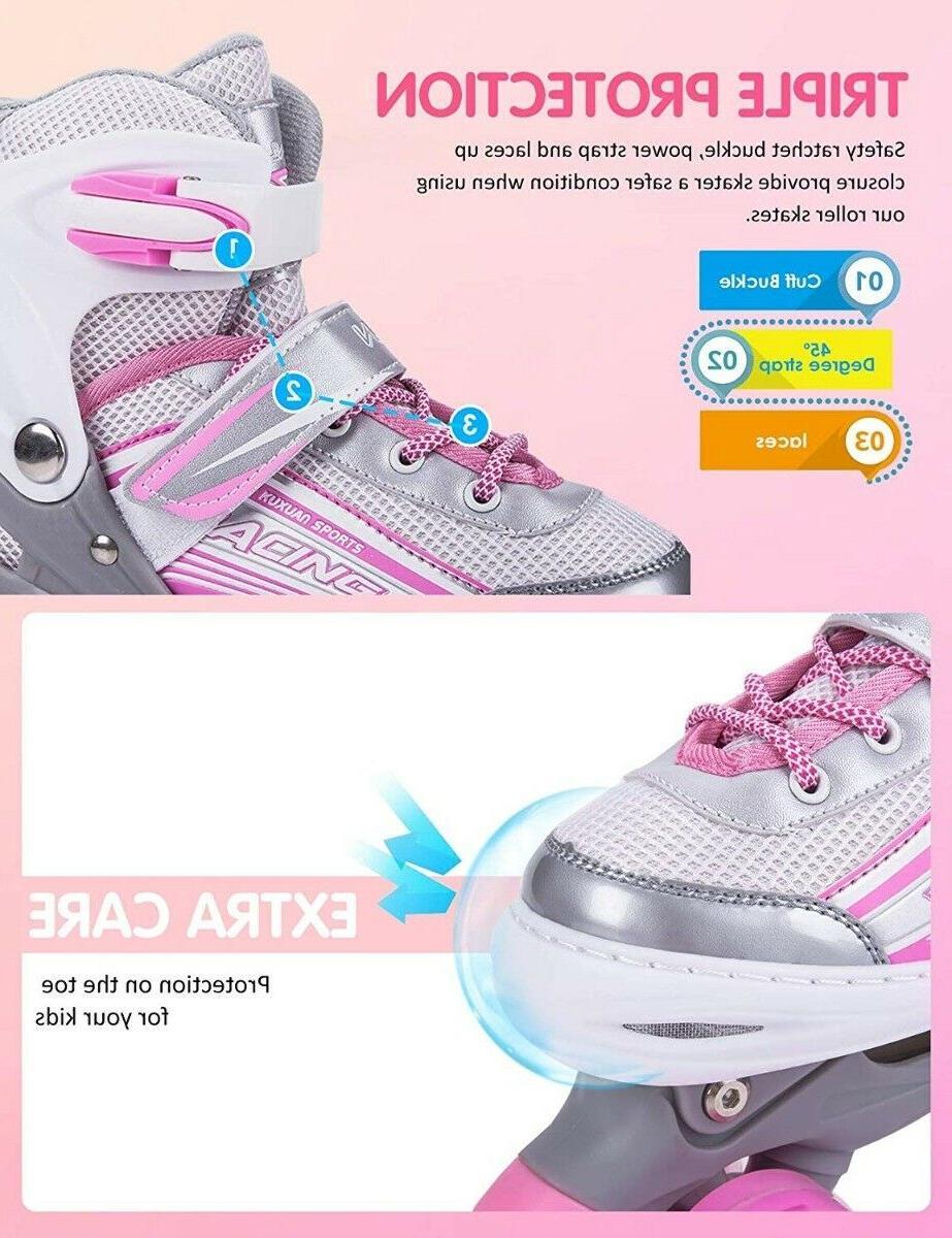 Kuxuan Skates Adjustable for ~Light Wheels