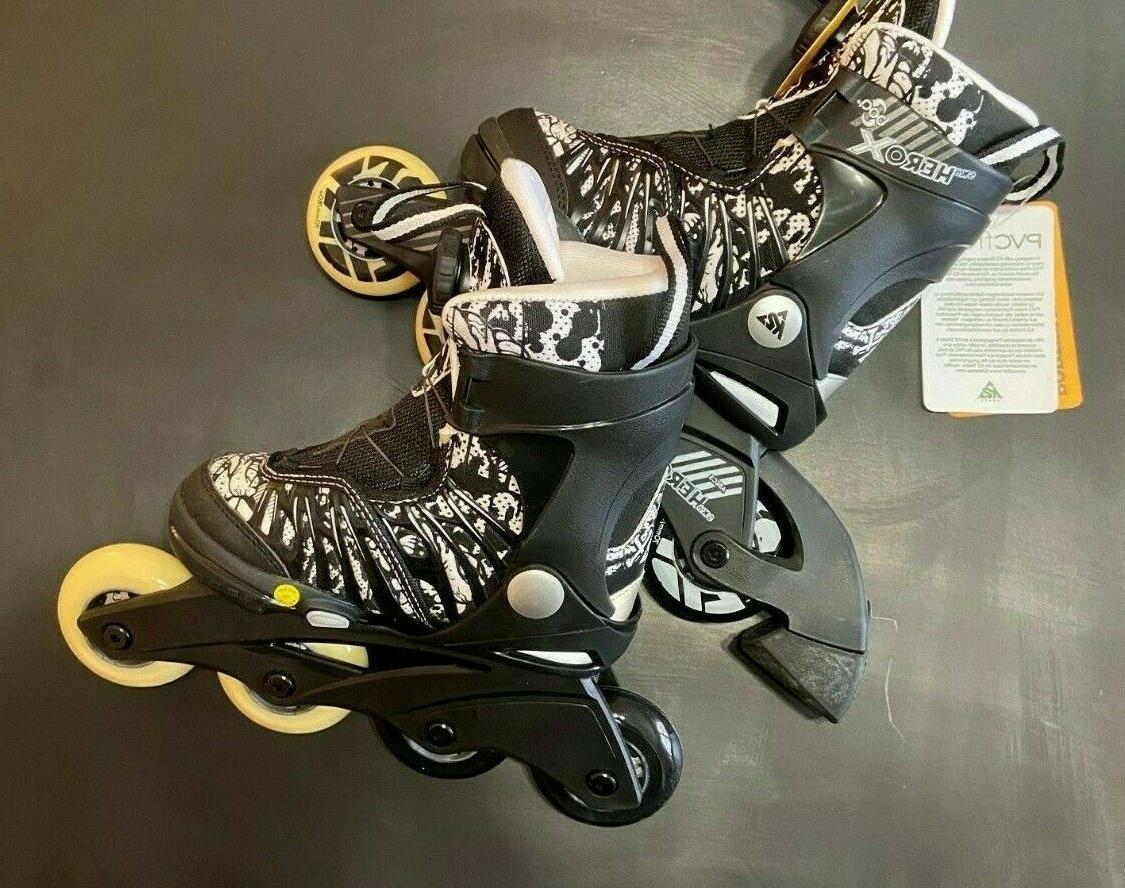 sk8 hero kids adjustable roller blades size
