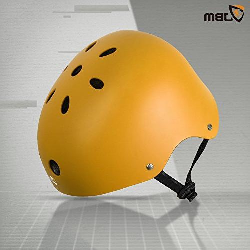 JBM Skateboard Helmet CPSC ASTM Impact Ventilation Multi-Sports Skateboarding Scooter Roller Inline Skating Longboard