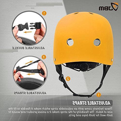 JBM Helmet ASTM Ventilation Skateboarding Inline Skating Longboard