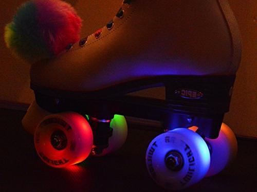 Epic Skates Epic Light-Up Quad Roller White