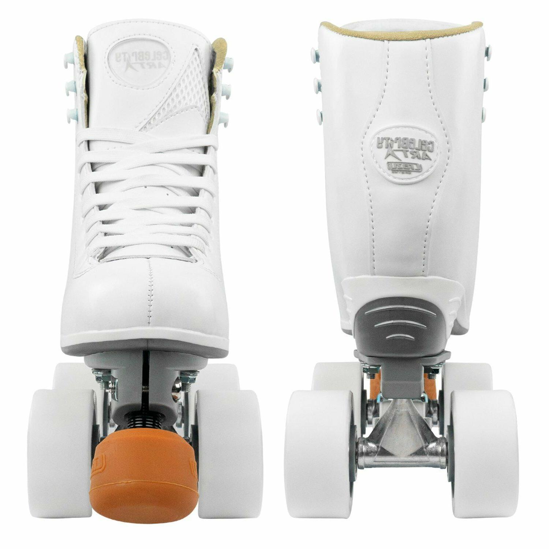 Celebrity Art Roller Skates by Crazy Artistic Figure White Boot