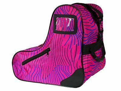 skates pink zebra skate bag