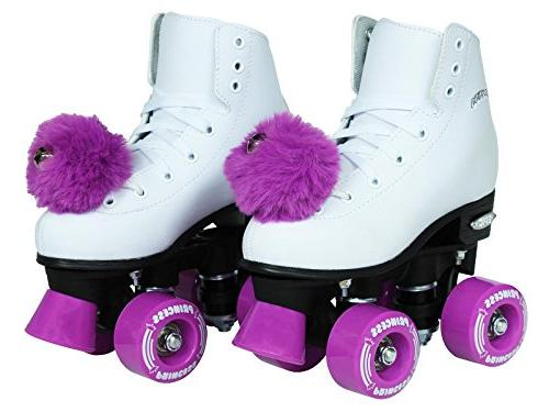 Epic Skates Purple Girls White, Adult 5