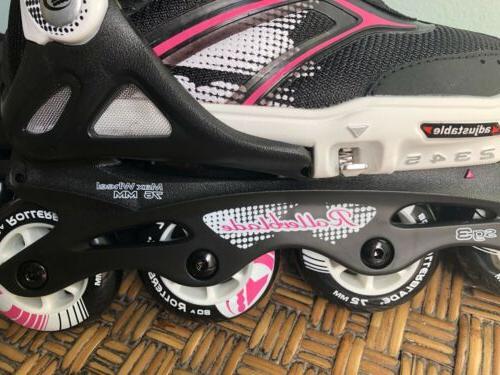 Rollerblade Adjustable Girls Inline Skates US Pink