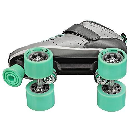 Roller Derby Women's Skate, Grey/Mint,