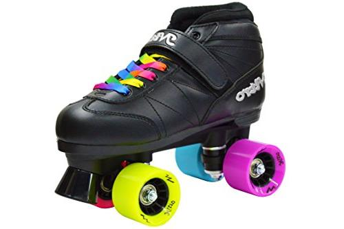 Epic Super Nitro Rainbow Quad Roller Skates Size 5 NO TAX