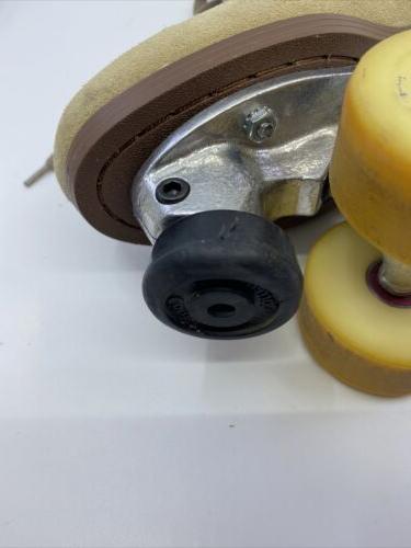 3L Leather Suede Skates size 7-8M EUC