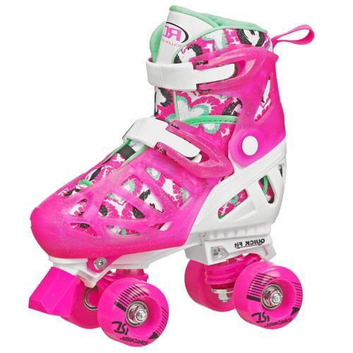 trac star girls adjustable roller skate white