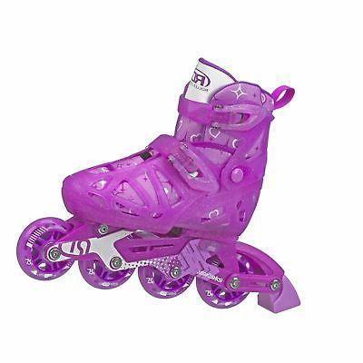 Roller Derby Tracer Girls Adjustable Inline Medium 2-5 Youth