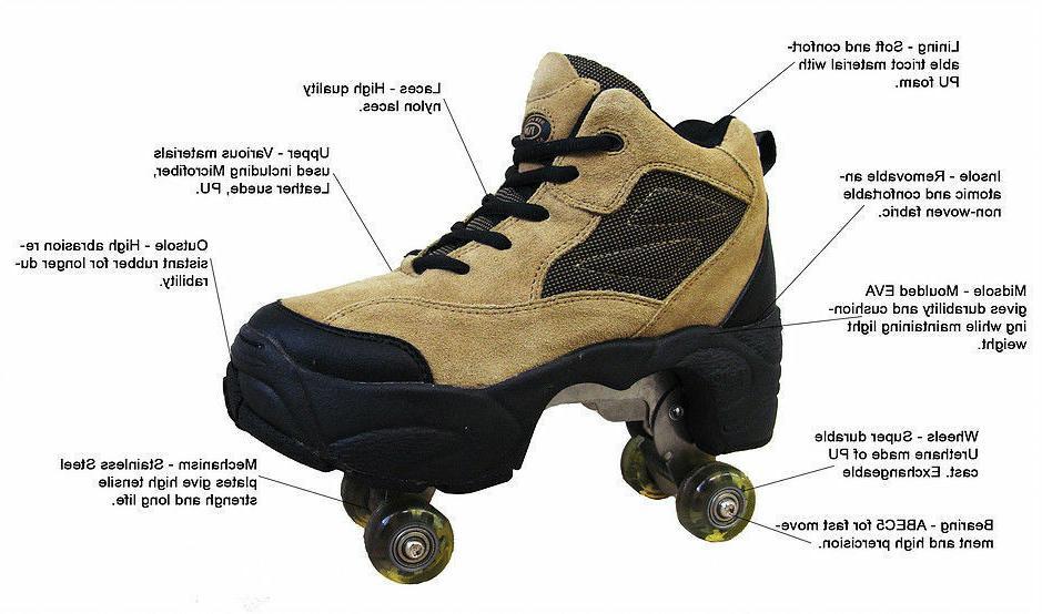 UNIQUE Quad Skates retractable Silver/Grey