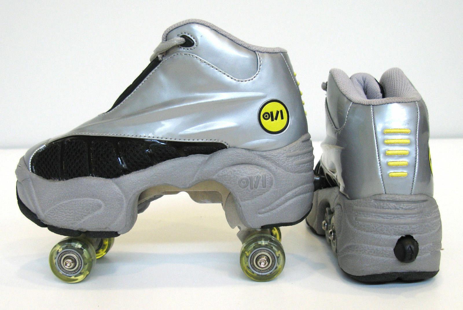 UNIQUE Quad ROLLER Skates Silver/Grey