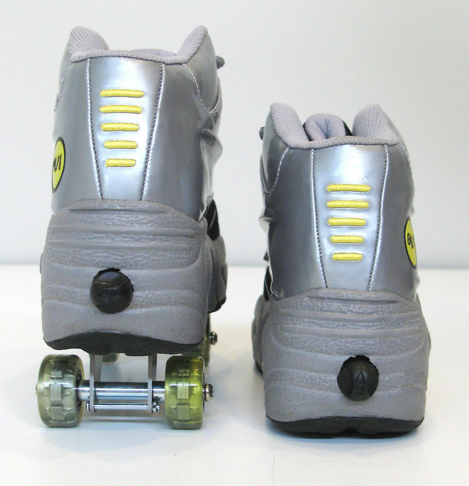UNIQUE Quad Skates retractable WALKnROLL Silver/Grey SHIP