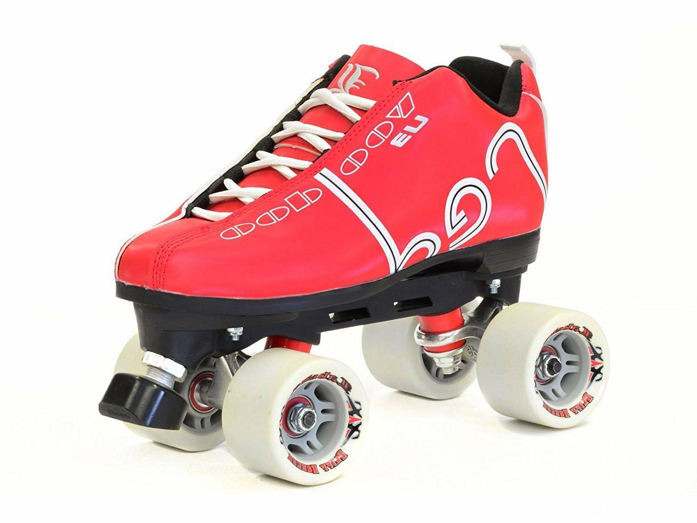 Labeda Quad Speed Roller Skates Choose Red, Black!