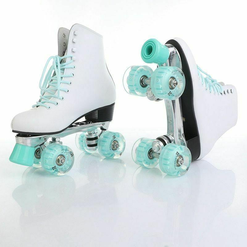 Womens Roller Skates Row PU Flash Girls Shoes