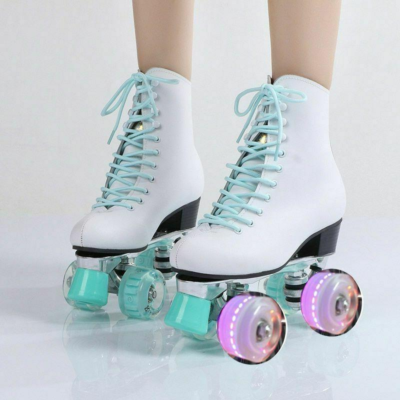 womens roller skates double row four wheel