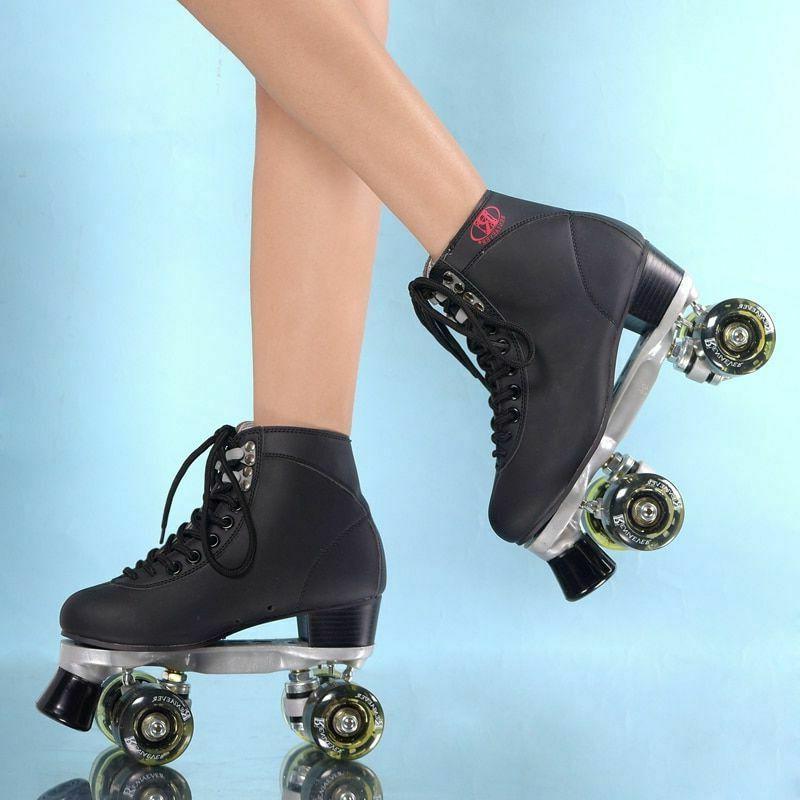 Womens Rink Skate LED 4 Wheels Skating Shoes
