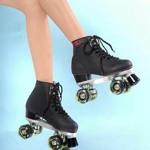 Womens Roller Rink Skate LED 4 Wheels