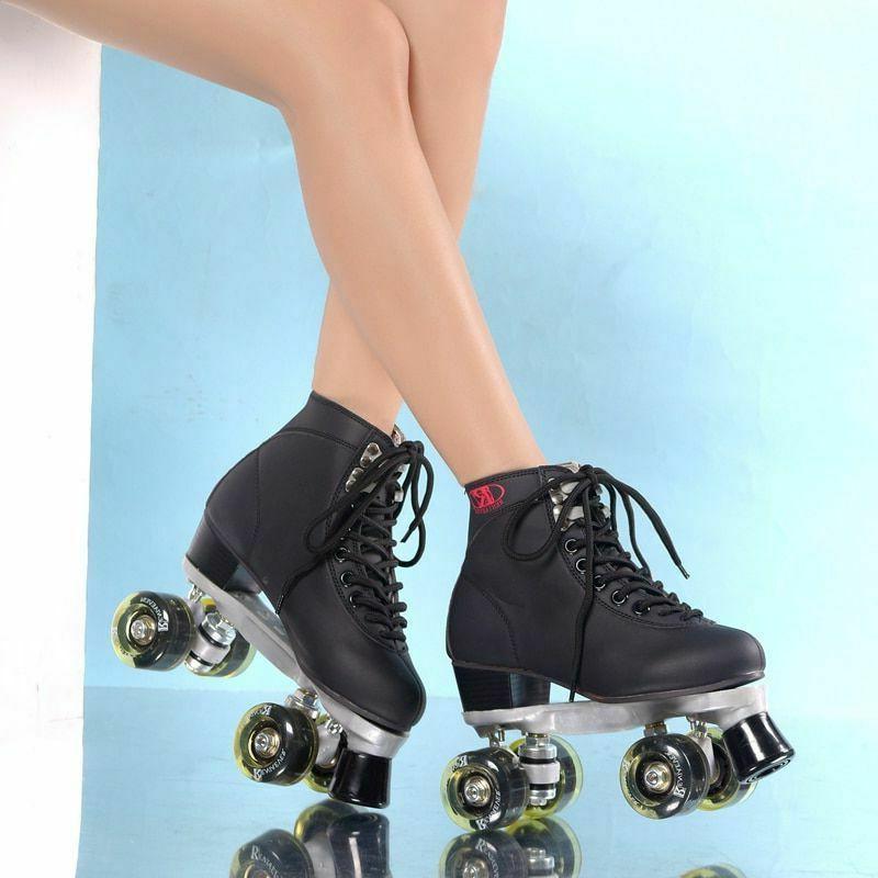 Womens Roller Skates Girls Rink LED 4 Skating