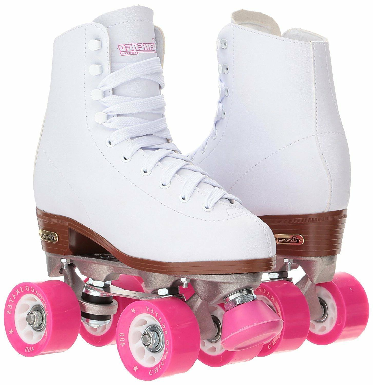 womens white classic rink roller skates by
