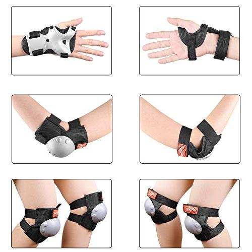 eNilecor Roller Skates Cycling Elbow Protective Set BMX Skatings Scooter Sports