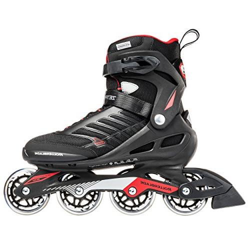 Rollerblade Zetrablade Adult Skate, Black Red, Performance Inline