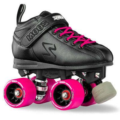 Zoom Speed Skate Quad Roller Skates with PINK Custom Kit PLU