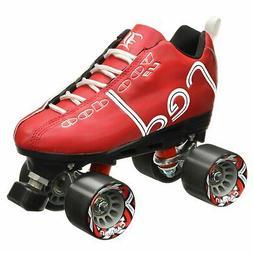 Labeda Voodoo U3 Quad Roller Speed Skates Customized Red Ska