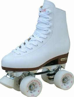 CHICAGO SKATES--LADIES DELUXE RINK SKATE, WHITE, CRS800