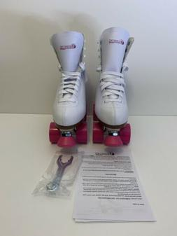 Chicago Ladies Rink Roller Skates White Size 9 Damages Box A